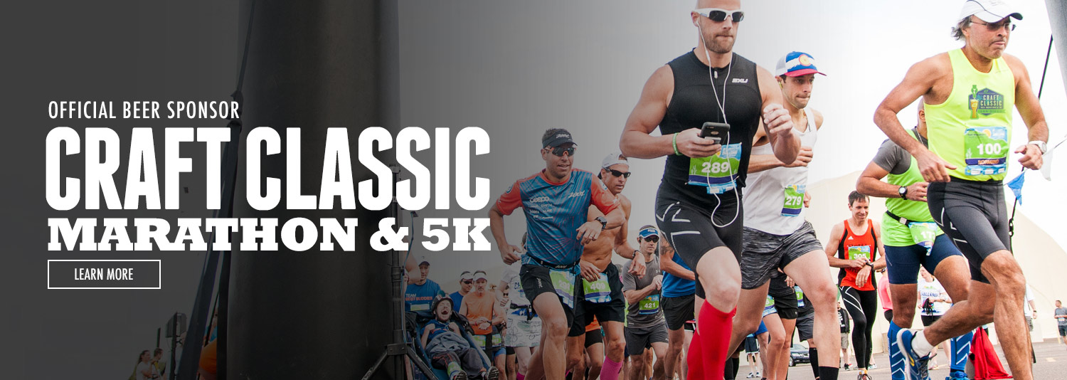 Green Flash is the official beer sponsor of the Craft Classic Marathon and 5K