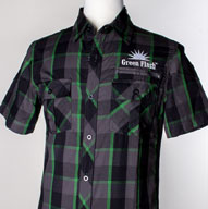 Men's Dark Green Plaid